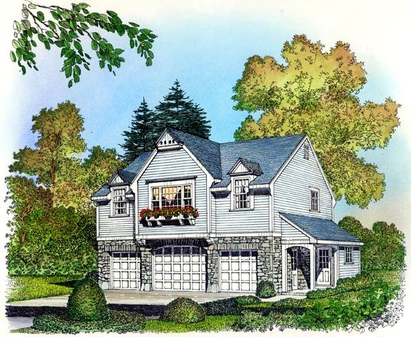 Small House Plans With 3 Car Garage Garage Apartment Plans Carriage House Plan With 2 Car