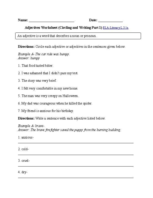 The 25+ best Adjective worksheet ideas on Pinterest | Adjectives ...