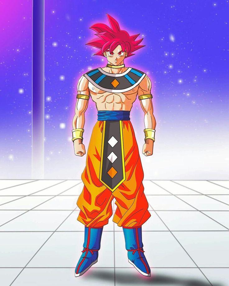 Goku como Dios destructor. Opté por hacerlo en ssj dios rojo ya que posee el Ki divino presente en todos los dioses.