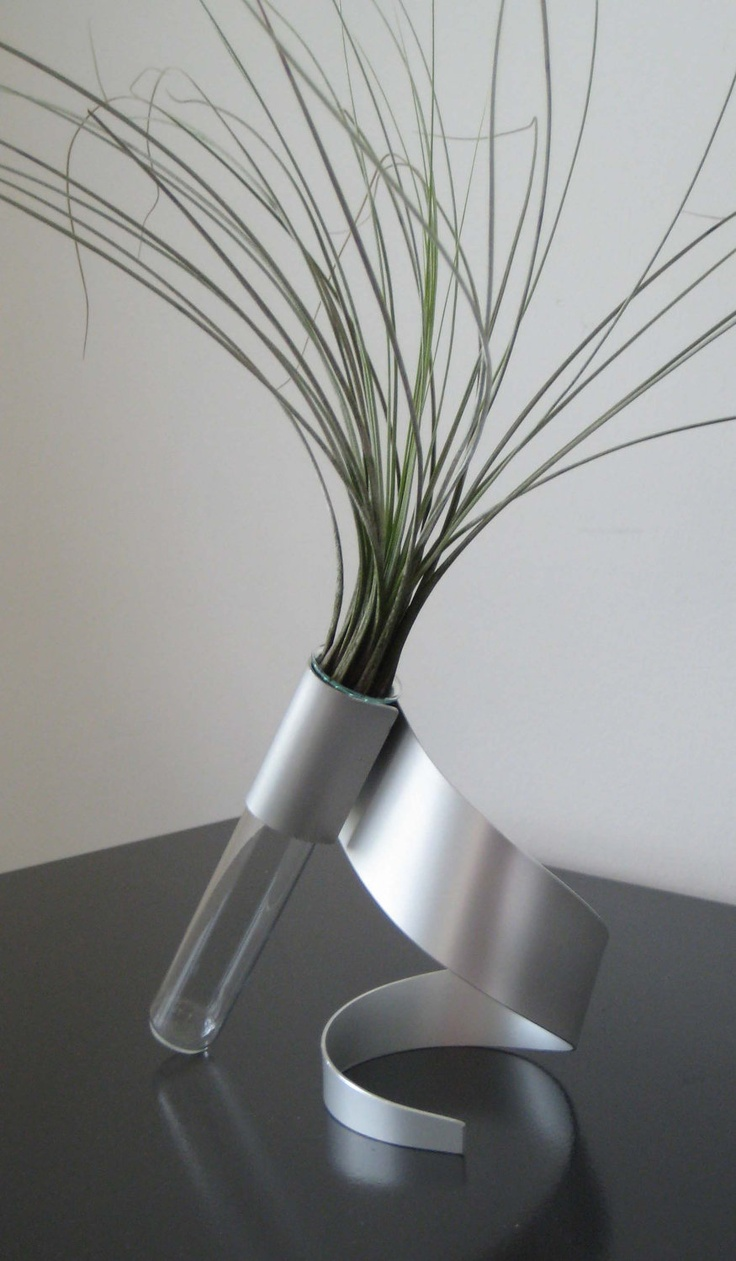Swirl Metal Sculpture Vase.