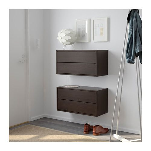 valje wandschrank mit 2 schubladen braun ikea flur pinterest wandschr nke schubladen. Black Bedroom Furniture Sets. Home Design Ideas