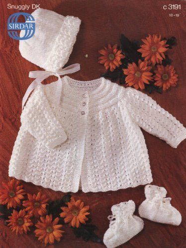 Sirdar 3191 Knitting Pattern Baby S Matinee Coat Ideas