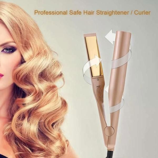 2 In 1 Professional Safe Hair Straightener Curler Buy 2 And Get