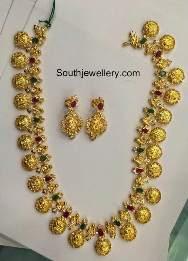 80 grams lakshmi kasu haram ornaments pinterest