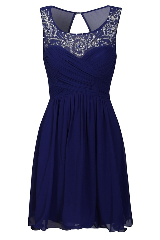 Royal blue for the girls...