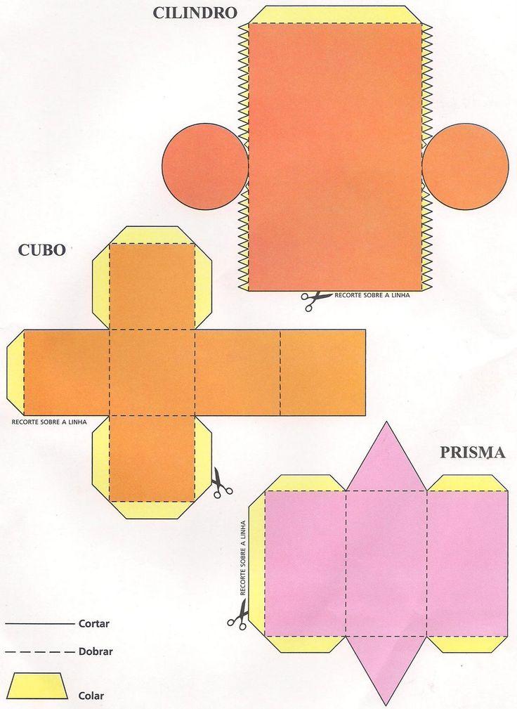 Ms de 25 ideas increbles sobre Moldes de figuras geometricas en
