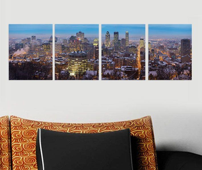 Akşam Şehir Tablo 4 parçalı tablolar