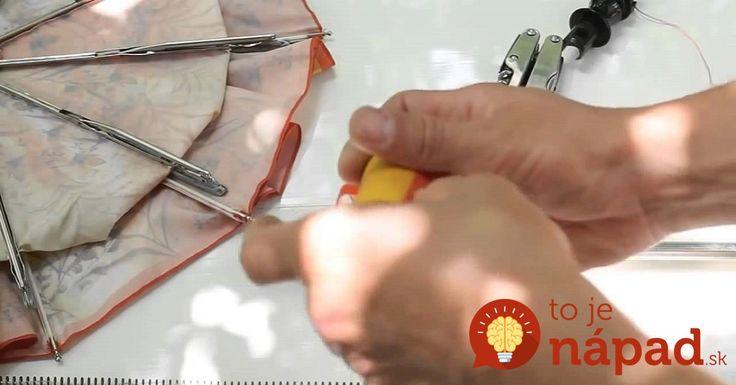 Pokazený dáždnik nevyhadzujte, vďaka tomuto nápadu ho môžete perfektne využiť!