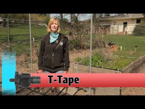 Drip Irrigation System helps save water and consistency quench plant thirst. Very cool.