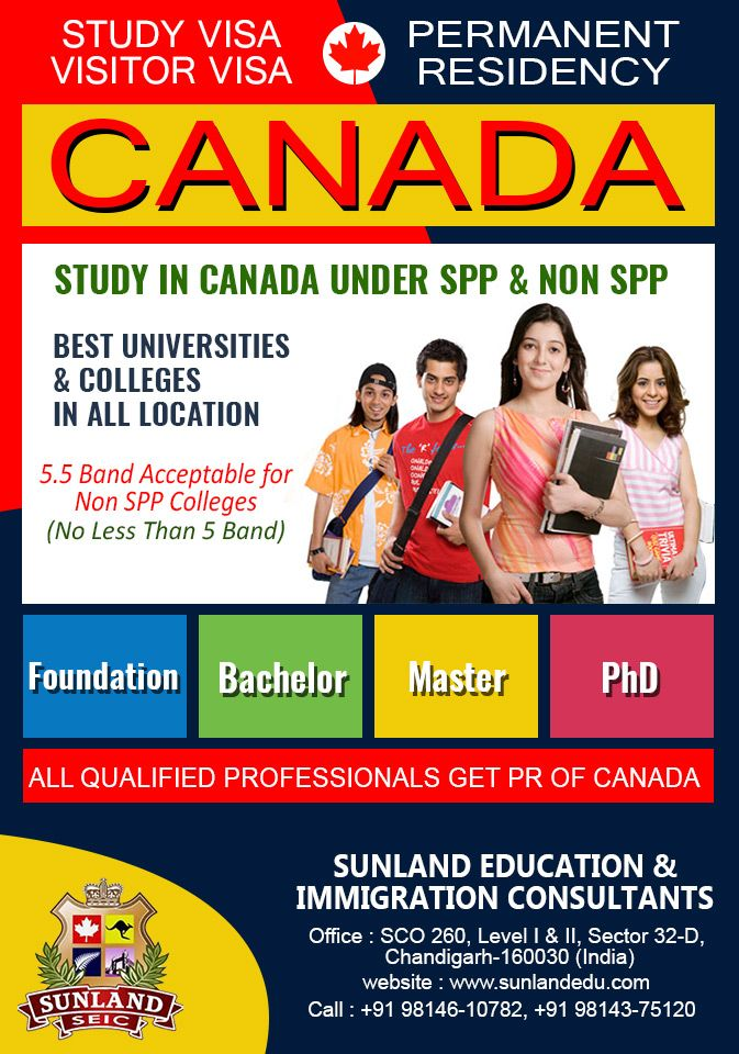 #Study #Visa, #Visitor #Visa and get #Permanent #Residency for #Canada  Through #SUNLAND #EDUCATION & #IMMIGRATION #CONSULTANTS, #CHANDIGARH, Our aim is to fulfill the dreams of our clients. Our CEO, Ms. #Anisha #Gupta is a qualified agent for #Canada, with an experience of more than 16 years. To visit us or contact us, kindly follow the below details which are as: SCO 260, Level 1st & 2nd, Sector 32-D, #Chandigarh +91 98146 10782 +91 98143 75120 http://sunlandedu.com