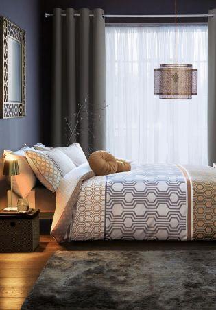Cotton Rich Luxe Geo Stripe Bed Set