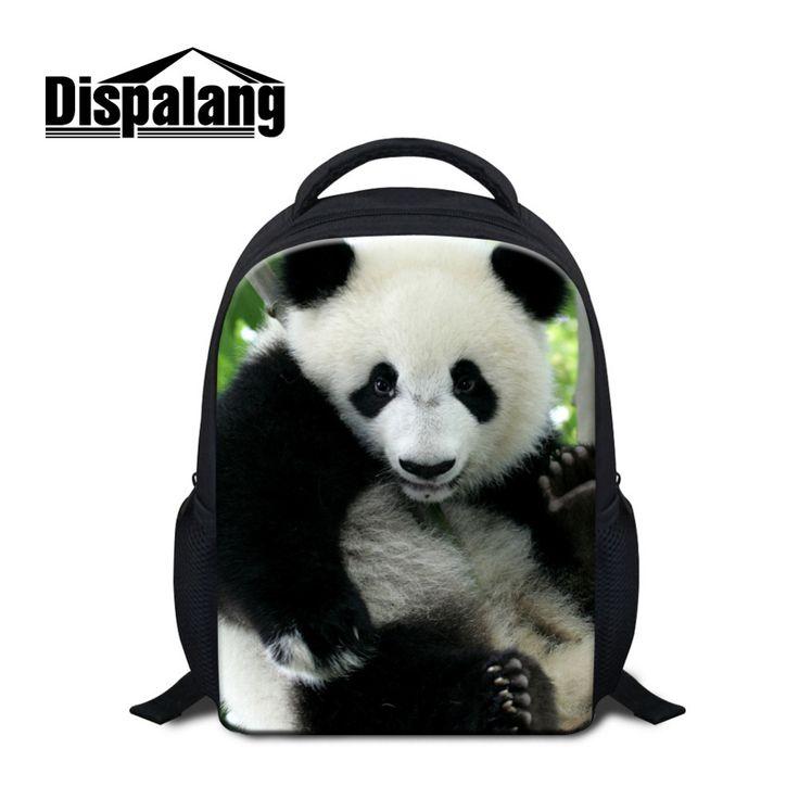 Dispalang Cute Panda Print Small School Bags For Girls Boys Children Mini Backpack Kindergarten Baby