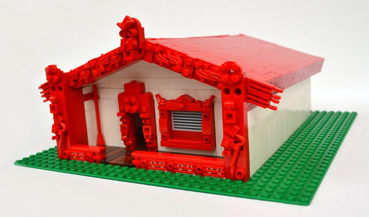 Wonderfully detailed Lego Wharenui by artist Ɲ.