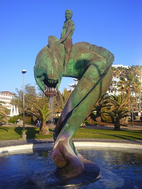 Fountain sculpture in Maspalomas on the Spanish island of Gran Canaria.