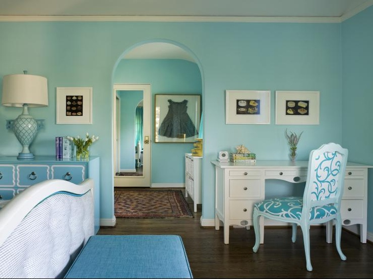 10 best images about teen bedroomsturquoise teal on pinterest chairs turquoise and painted desks - Teal teen bedroom ...