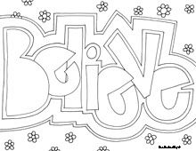 inspiring words coloring pages believe compassion courage brave create and more