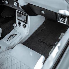 chevelle #BecauseSS custom interior center console double din ac vents, diamond stitch bucket seats