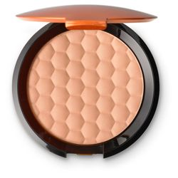 Honey Bronze Bronzing Powder - The Honey Bronze Bronzing Powder is a silky, luxurious bronzing face powder for a sun-kissed glow. With a matte finish, this bronzer is perfect for those that want a soft glow on-the-go. The embossed honeycomb design creates easier pick up of powder on your makeup brush for easy application.