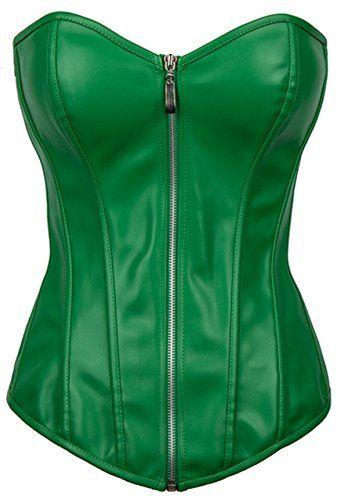 Damen Poison Ivy Leder-Corsage ca 16€ | Kostüm-Idee zu Karneval, Halloween & Fasching