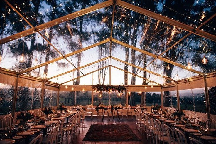 Chloe Nathan S Perfect Byronviewfarm Wedding The Dusk Light Always Creating The Perfect Backdrop F Marquee Wedding Receptions Clear Marquee Marquee Wedding