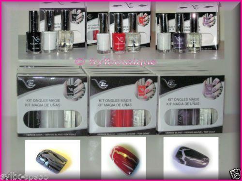Ongles Craquelés: Kit Complet 'Vera Valenti' Facile à Utiliser: Noir/Rouge/Mauve Ongles Craquelés: Kit Complet 'Vera Valenti' Facile à Utiliser: Noir/Rouge/Mauve 9,79€