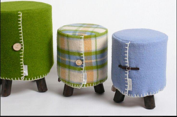 Gemaakt van wollen dekens