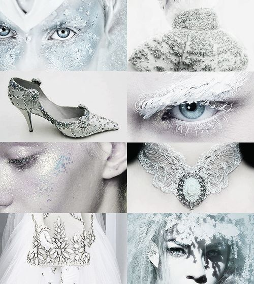 The snow queen- eyebrows & choker <3