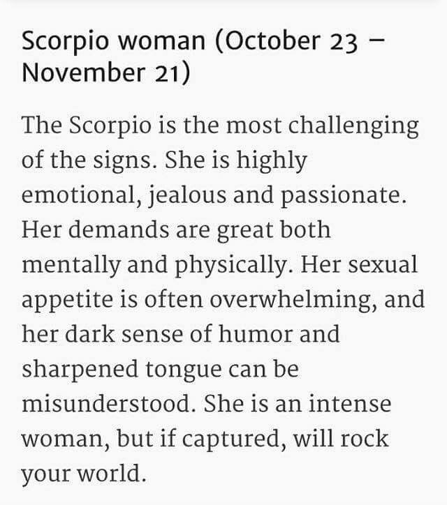 Scorpio Woman! !                                                                                                                                                                                 More