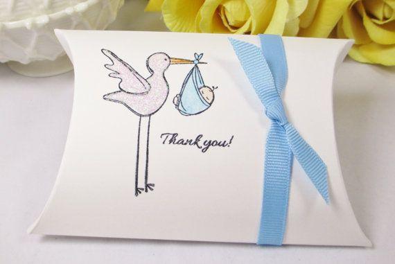 Stork Baby Shower Favor Box Baby Boy Favor by ImagineandInspire, $19.00