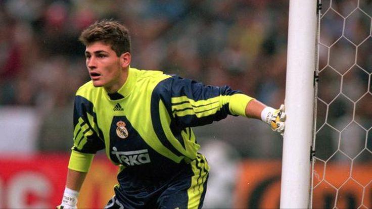 A young @Casillas #9ine #RealMadrid