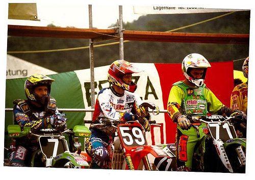 1995  125 cc Jimmy Button (59), Fred Vialle (7),Michele Fanton(71)