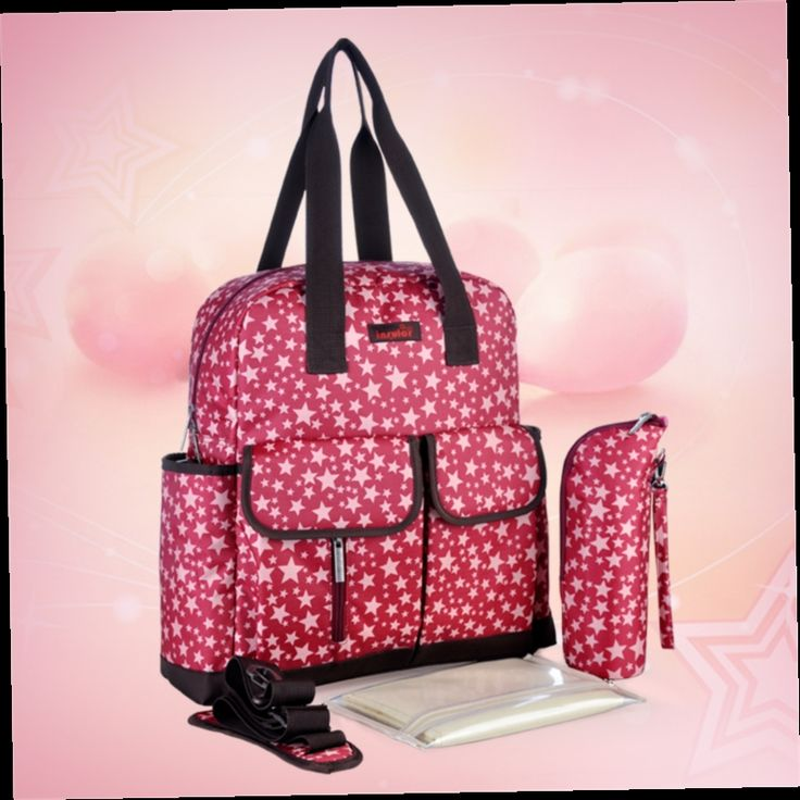 47.34$  Buy now - http://ali6xf.worldwells.pw/go.php?t=32606464314 - Nappy Bags Free Shipping Nylon Star Print Personalized Neutral Multifunction Quilted Baby Diaper Bag Backpacks Large Capacity
