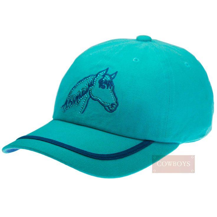 Boné Azul Bordado Cavalo   Boné feminino importado em algodão regulável com bordado e strass. Ótima opção de presentes em datas comemorativas e para pessoas queridas que gostam de cavalos e do estilo country. Ideal para proteger o rosto durante o dia de treino e trabalho no sol.