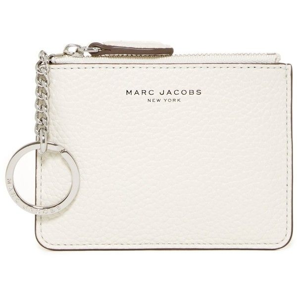 Marc Jacobs The Essential Zip Leather Coin Purse found on Polyvore featuring bags, handbags, clutches, white birch, white bag, zipper coin purse, zip coin purse, zippered coin pouch and white leather bag