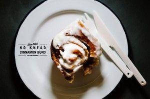 No knead cinnamon buns
