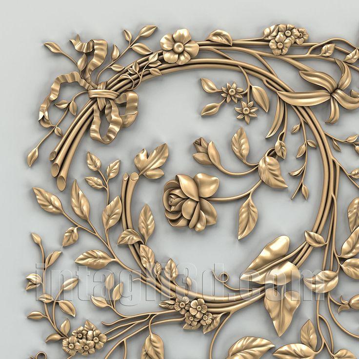 3D-model of decorative сeiling socket for gypsum making for CNC carver (STL). Detail