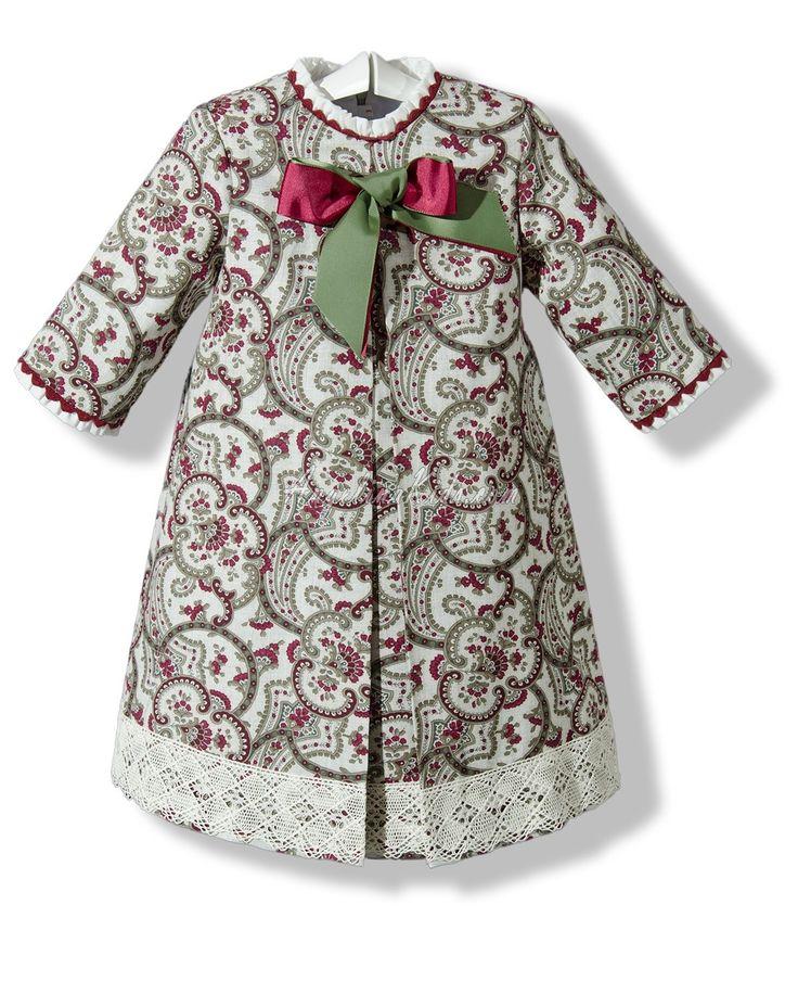 Vestido estampado para niña con manga francesa