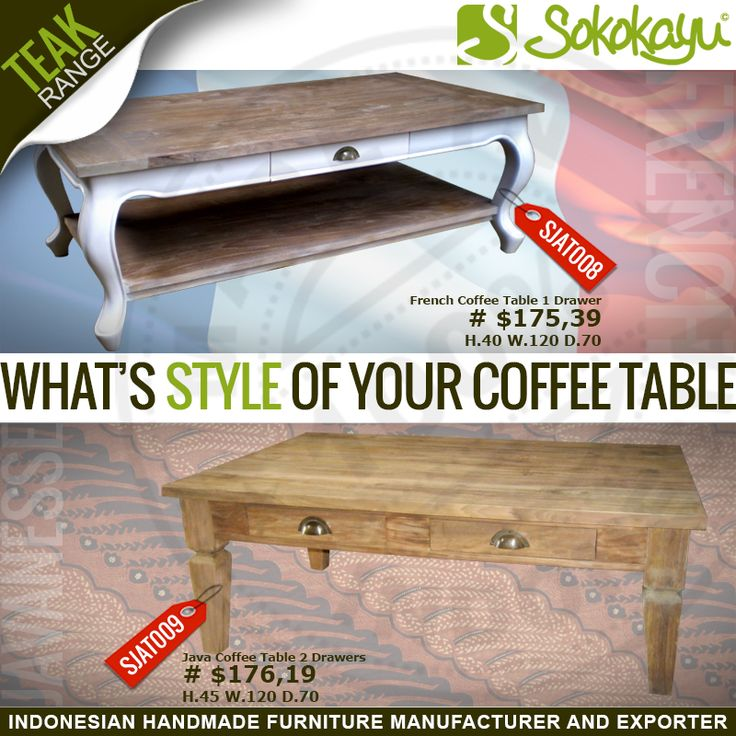 What's style of your coffee table? Find out more @ http://www.sokokayu.com/search/label/Coffee%20Table F: sokokayufurniture T: @sokokayu G+: sokokayufurnitureindonesia Linkedin: sokokayu . info: Ubay +62 85 292 026 199 Agung +62 81 326 343 355 . #CoffeeTable #Style #French #Java #MadeInIndonesia #Jepara #sokokayu