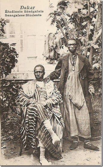 """Dakar. Senegalese students."" circa 1900-10. Photographer unknown."
