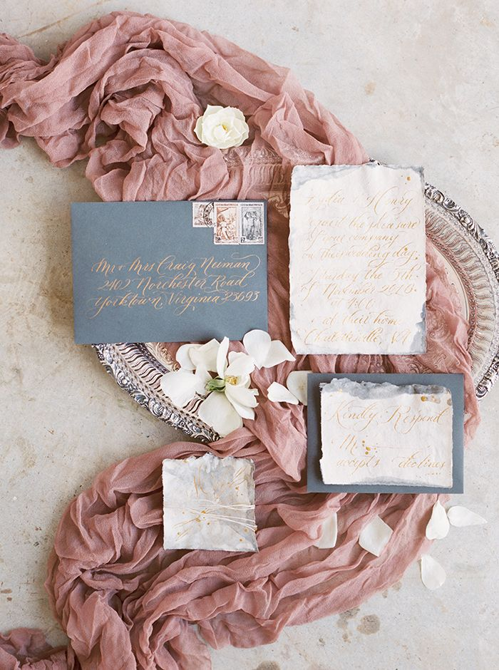 Mauve and Dusty Blue Wedding Details