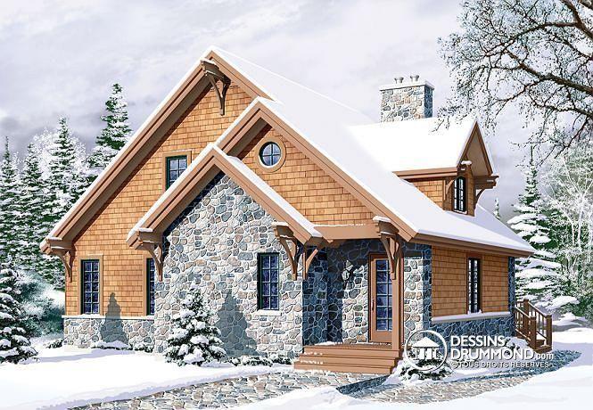 Un chalet de ski bien aimé! Plan no. 2957 de Dessins Drummond. Cliquez sur le lien pour voir trois différentes versions construites de ce modèle + l'intérieur : http://www.dessinsdrummond.com/detail-plan-de-maison/info/1000323.html Trois chambres dont une grande suite des maîtres!