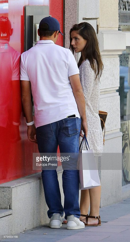 Javier Hernandez 'Chicharito' and Lucia Villalon are seen on May 26, 2015 in Madrid, Spain.
