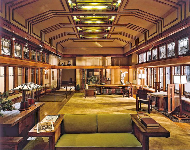 robie house interior by frank lloyd wright architecture interior design pinterest house. Black Bedroom Furniture Sets. Home Design Ideas