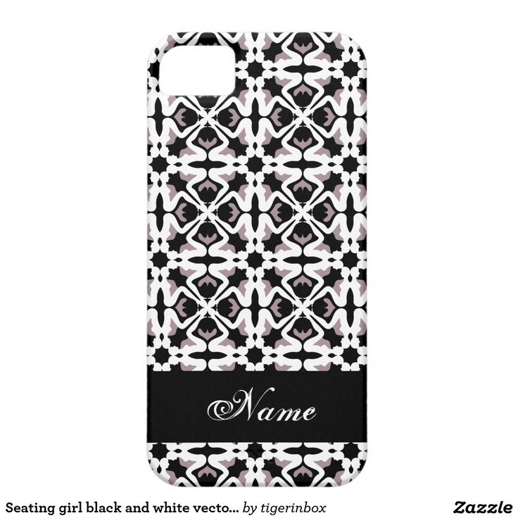 Seating girl black and white vectorial pattern iPhone SE/5/5s case