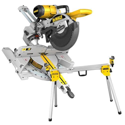Dewalt 254mm Slide Compound Mitre Saw + Compact legstand