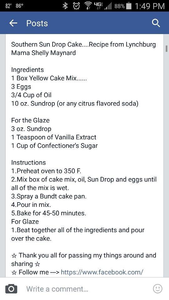 recipe: dale earnhardt sundrop cake [34]