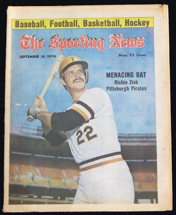 9-14-74 SPORTING NEWS - PITTSBURGH PIRATES RICHIE ZISK THE COVER ON COVER