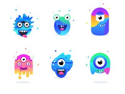 Add friends mascots