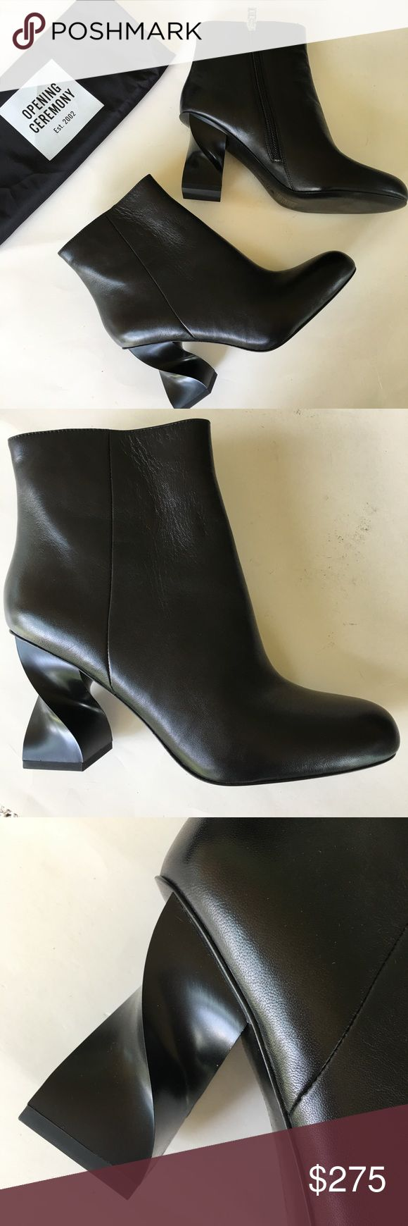 NEW OPENING CEREMONY black spiral heel ankle boots B Opening Ceremony Shoes Ankle Boots & Booties