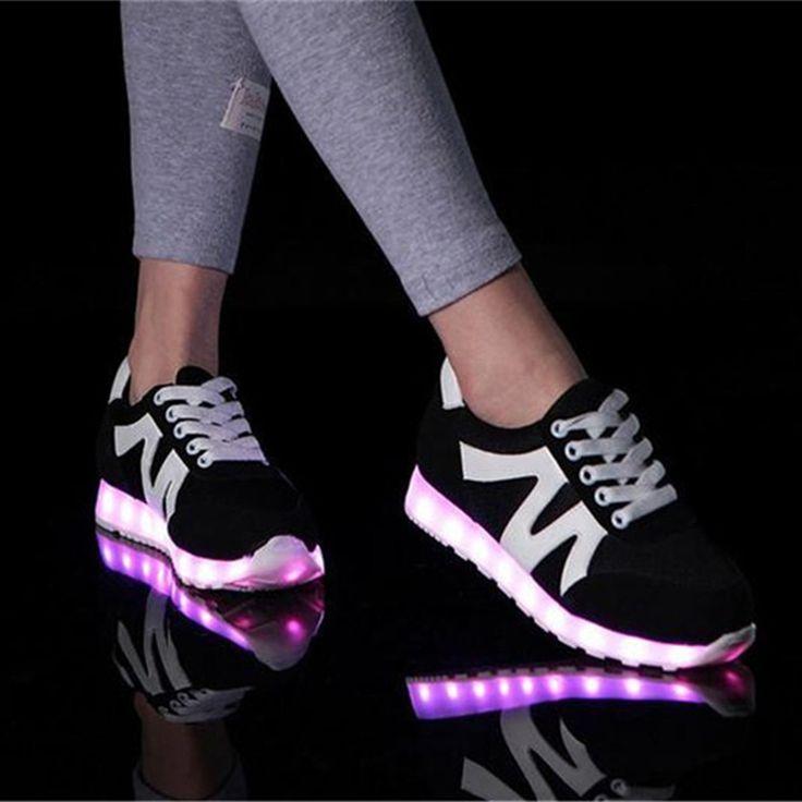 Aliexpress.com : Buy MaiDun 2016 Men Fashion Shoes Leisure Flashing LED Shoes USB charging